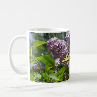 Butterfly on Lilac Flower Coffee Mug