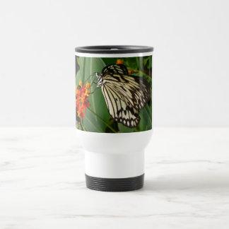 Butterfly on Orange Flower Travel Mug