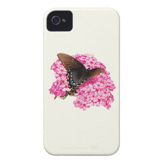Butterfly on Pink Lantanas iPhone 4 Case-Mate Cases