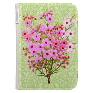 Butterfly on Pink Waxflowers Kindle Case