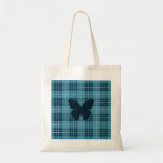 Butterfly on Plaid Blues