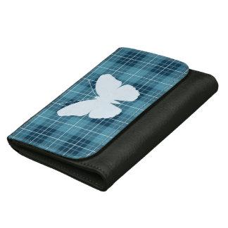 Butterfly on Plaid Blues II Wallet
