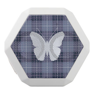 Butterfly on Plaid Blues & Purples II