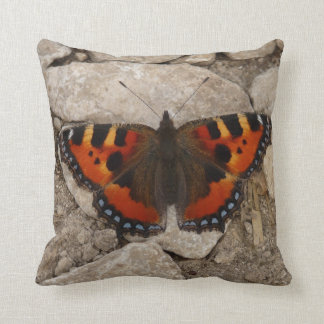 Butterfly on Rocks American MoJo Pillow Cushion