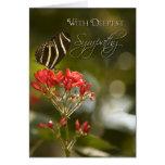 Butterfly on Royal Poinciana Sympathy Card