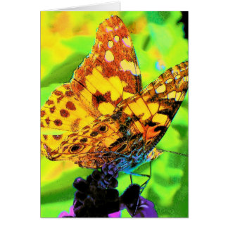 Butterfly on Salvia Greeting Card
