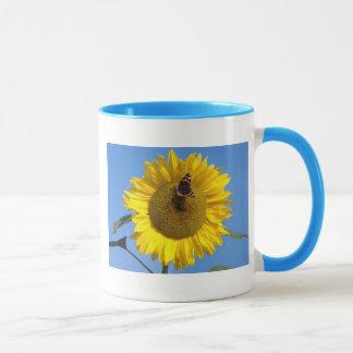 Butterfly on Sunflower Mug