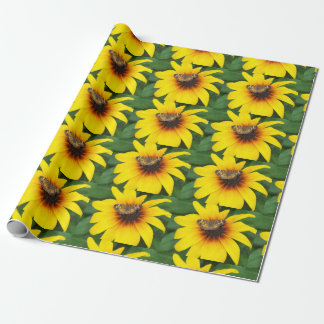 Butterfly on Sunflower Paper Wrapping Paper