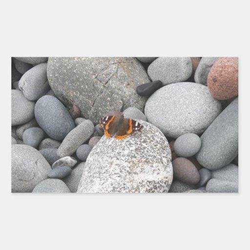 Butterfly on the rocks sticker