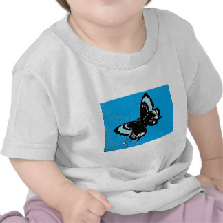 Butterfly on Turquoise Tshirt