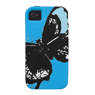 Butterfly on Turquoise Vibe iPhone 4 Cover