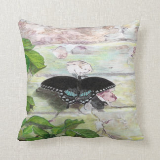Butterfly on wall pillow