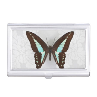 Butterfly on wallpaper background business card holder