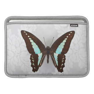 Butterfly on wallpaper background sleeve for MacBook air