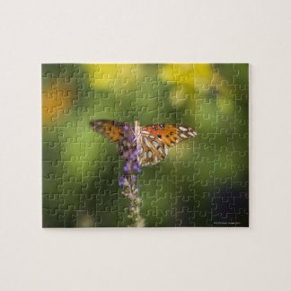 Butterfly on wildflowers jigsaw puzzle