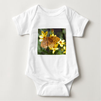 Butterfly on Yellow Flower Photo Baby Bodysuit