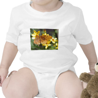 Butterfly on Yellow Flower Photo Baby Bodysuits