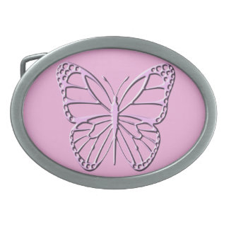 Butterfly Oval Belt Buckle