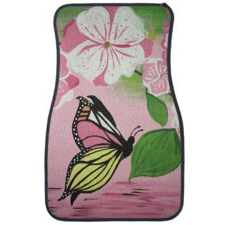 Butterfly over Water Car Mat