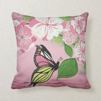 Butterfly over Water Pillow
