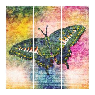 Butterfly Painting Art Monet Canvas Print