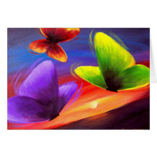 Butterfly Painting Art - Multi Cards