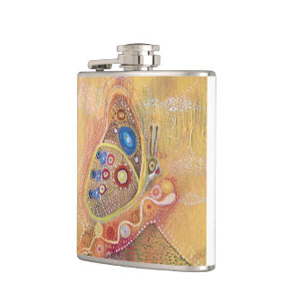 Butterfly painting flask