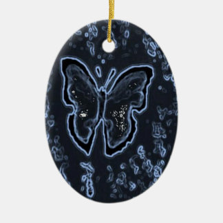 Butterfly Painting Negative Ceramic Oval Decoration