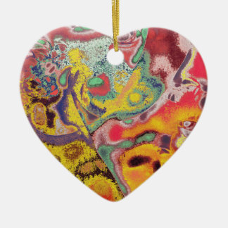 Butterfly Paisley Abstract Ceramic Heart Decoration