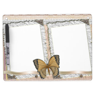 Butterfly paper sheet dry erase board with key ring holder