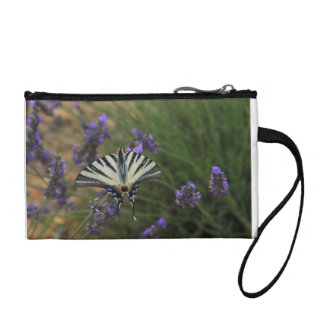Butterfly - Papilio machaon on flowering lavender Coin Purse