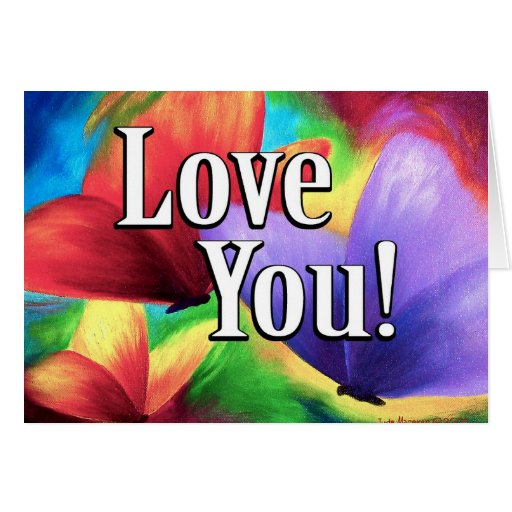 Butterfly Parade Love Colors Art - Multi Greeting Cards