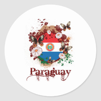 Butterfly Paraguay Classic Round Sticker