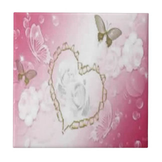 Butterfly Passion Small Square Tile