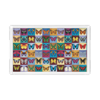 Butterfly Patchwork Acrylic Tray