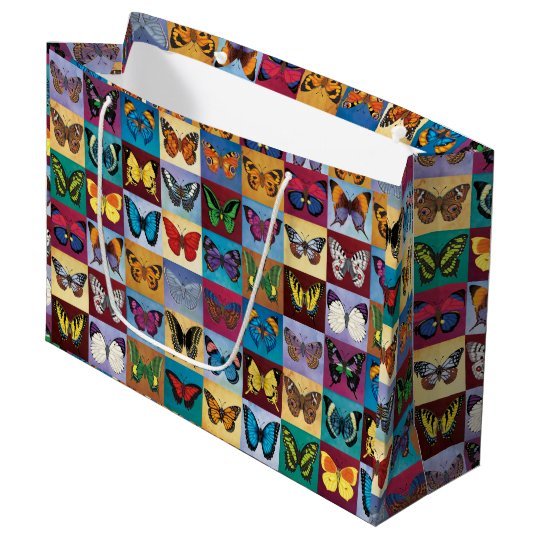 Butterfly Patchwork Large Gift Bag