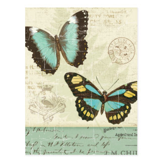 Butterfly Patchwork Postcard