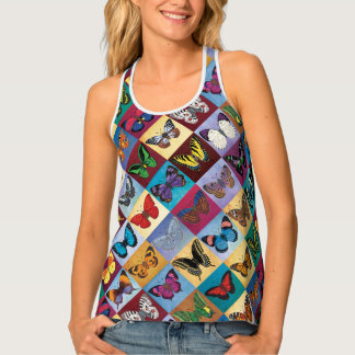 Butterfly Patchwork Tank Top