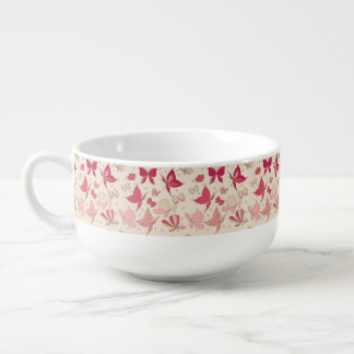 butterfly pattern 2 soup mug