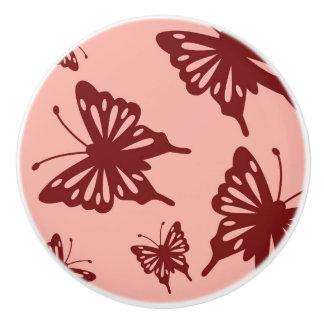 butterfly pattern 3 ceramic knob