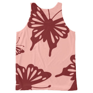 butterfly pattern All-Over print tank top