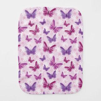 butterfly pattern burp cloth