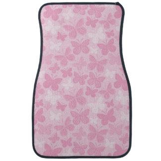 Butterfly pattern car mat