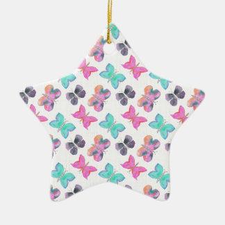 Butterfly Pattern Ceramic Star Decoration