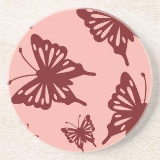 butterfly pattern coaster