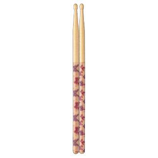 butterfly pattern drumsticks