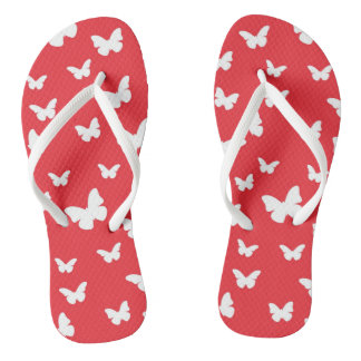 Butterfly pattern flip flops
