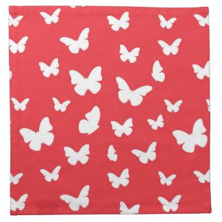 Butterfly pattern napkin