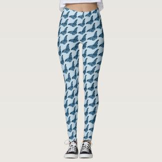Butterfly Pattern on Blue or Custom Color Leggings
