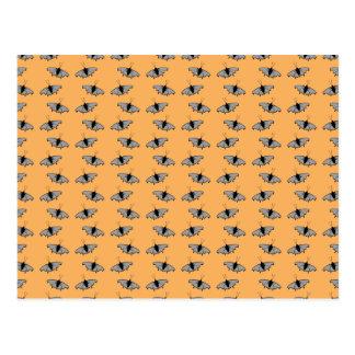 Butterfly Pattern. Orange. Post Card